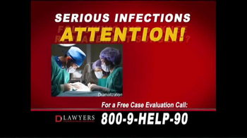 Langdon & Emison Attorneys at Law TV Spot, 'Serious Infections' - Thumbnail 1