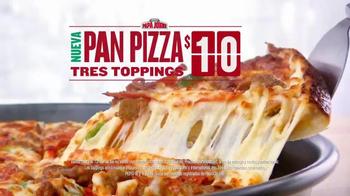 Papa John's Pan Pizza TV Spot, 'Tres Toppings' [Spanish] - Thumbnail 4