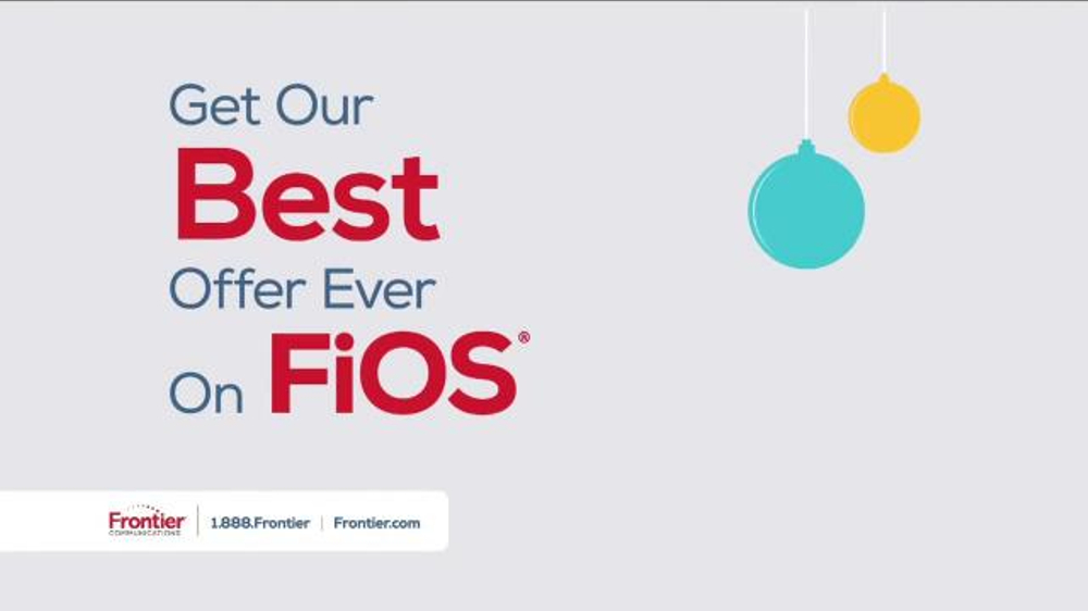 Frontier FiOS Triple Play TV Commercial, 'Holidays: Best Offer Ever'