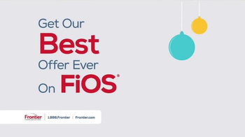 Frontier FiOS Triple Play TV Spot, 'Holidays: Best Offer Ever'