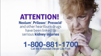 Kirkendall Dwyer LLP TV Spot, 'Heartburn Drug Injuries' - Thumbnail 1