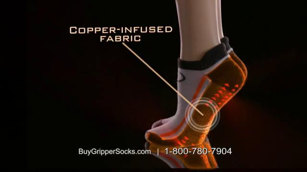Copper Fit Gripper Socks Tv Commercial Change Your Workout Feat