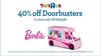 Toys R Us Black Friday Sale TV Spot, 'Doorbusters: Barbie & LEGO'