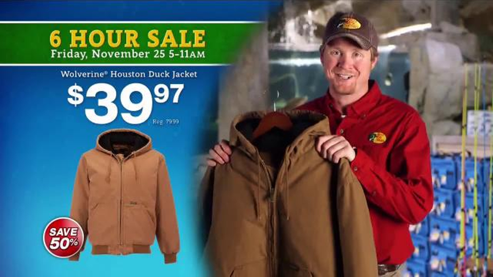 Bass Pro Shops 6 Hour Sale TV Commercial, 'Jeans, Storage Bins and Jackets'