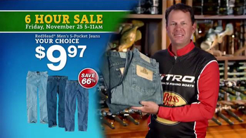 Bass Pro Shops 6 Hour Sale TV Spot, 'Jeans, Storage Bins and Jackets' - Thumbnail 4