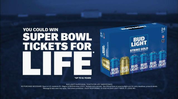 Bud Light Strike Gold TV Spot, 'Super Bowl LI: Tickets for Life' - Thumbnail 5