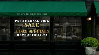 JoS. A. Bank Pre-Thanksgiving Sale TV Spot, 'Sweaters, Suits and Coats' - Thumbnail 1