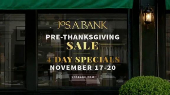 JoS. A. Bank Pre-Thanksgiving Sale TV Spot, 'Sweaters, Suits and Coats'