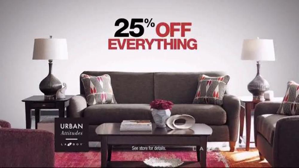 la z boy black friday sale tv commercial 39 recliners sofas and furniture 39. Black Bedroom Furniture Sets. Home Design Ideas