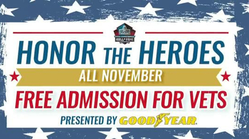 Pro Football Hall of Fame TV Spot, 'Free Admission for Veterans' - Thumbnail 1