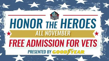 Pro Football Hall of Fame TV Spot, 'Free Admission for Veterans' - Thumbnail 2