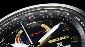 Seiko Prospex World Time Solar Chronograph TV Spot, 'Up to the Minute'