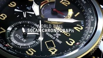 Seiko Prospex World Time Solar Chronograph TV Spot, 'Up to the Minute' - Thumbnail 3