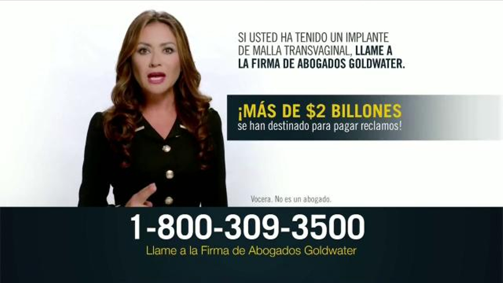 Goldwater Law Firm TV Commercial, 'Implante de malla transvaginal'