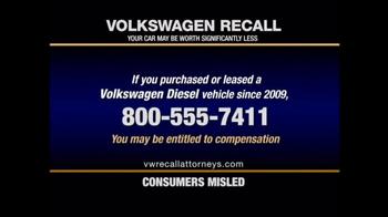 Pulaski & Middleman TV Spot, 'Volkswagen Recall' - Thumbnail 2