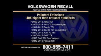 Pulaski & Middleman TV Spot, 'Volkswagen Recall'