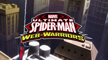 Ultimate Spider-Man Web-Warriors Color Shock Slingers TV Spot, 'Rooftop' - Thumbnail 1