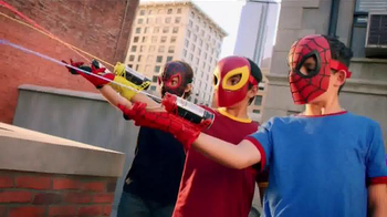 Ultimate Spider-Man Web-Warriors Color Shock Slingers TV Spot, 'Rooftop' - Thumbnail 5