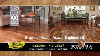 Lumber Liquidators TV Spot, '2015 Fall Flooring Season: This Week's Deals' - Thumbnail 4