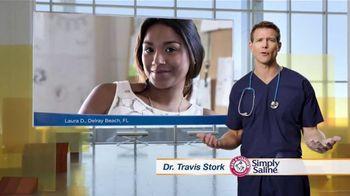 Simply Saline TV Spot, 'Congestion Questions: Laura' Ft. Travis Stork