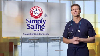 Simply Saline TV Spot, 'Congestion Questions: Laura' Ft. Travis Stork - Thumbnail 10