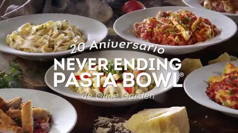 Olive Garden Never Ending Pasta Bowl TV Commercial, 'Aniversario'