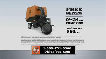 DR Power Equipment Leaf and Lawn Vacuum TV Spot, 'Year-Round Fall' - Thumbnail 9