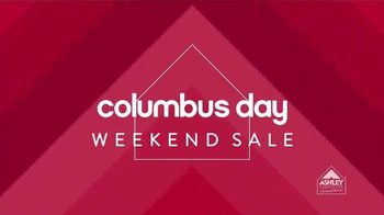 Ashley Furniture Homestore Columbus Day Sale TV Spot, 'Weekend Savings' - 4 commercial airings