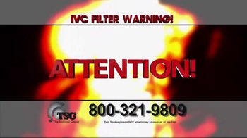 The Sentinel Group TV Spot, 'IVC Filter Warning' - Thumbnail 2