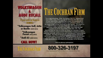 The Cochran Law Firm TV Spot, 'Volkswagen & Audi Recall' - Thumbnail 7