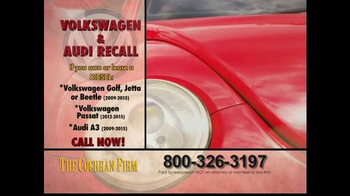 The Cochran Law Firm TV Spot, 'Volkswagen & Audi Recall' - Thumbnail 1