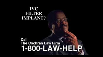 The Cochran Law Firm TV Spot, 'IVC Filter Alert' - Thumbnail 5