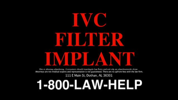 The Cochran Law Firm TV Spot, 'IVC Filter Alert'