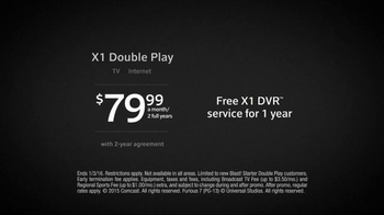 XFINITY X1 Double Play TV Spot, 'TV and Internet' - Thumbnail 7