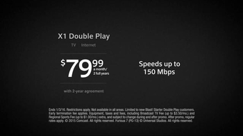 XFINITY X1 Double Play TV Spot, 'TV and Internet' - Thumbnail 8