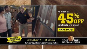 Lumber Liquidators 2015 Fall Flooring Season TV Spot, 'Final Days' - Thumbnail 3