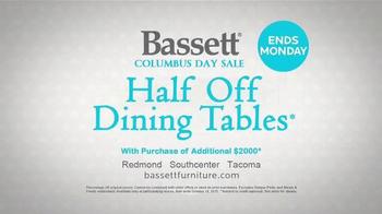 Bassett Columbus Day Sale TV Spot, 'Susan: Half Off Dining Tables' - Thumbnail 9