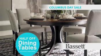 Bassett Columbus Day Sale TV Spot, 'Susan: Half Off Dining Tables' - Thumbnail 6