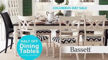 Bassett Columbus Day Sale TV Spot, 'Susan: Half Off Dining Tables' - Thumbnail 7