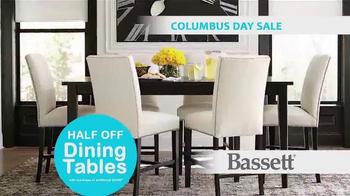 Bassett Columbus Day Sale TV Spot, 'Susan: Half Off Dining Tables' - Thumbnail 8