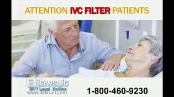 iLawsuit Legal Hotline TV Spot, 'IVC Filter'