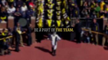 Michigan Athletics TV Spot, 'Be a Part of the Team' - Thumbnail 1