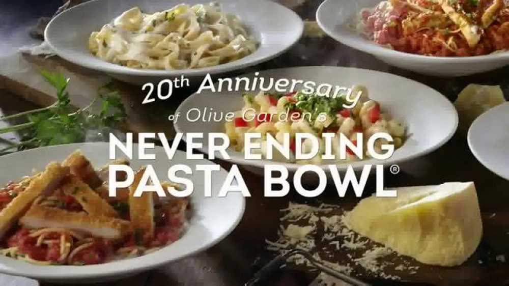 Olive Garden Never Ending Pasta Bowl TV Commercial, 'We're Celebrating'