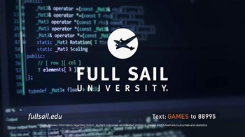 Full Sail University TV Spot, 'Games' - Thumbnail 3