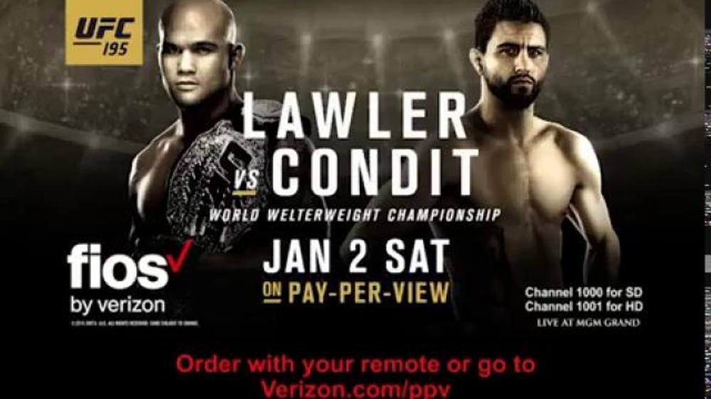 Fios by Verizon Pay-Per-View TV Commercial, 'UFC 195: Lawler vs. Condit'
