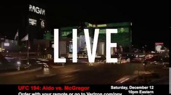 Fios by Verizon Pay-Per-View TV Spot, 'UFC 194: Aldo vs. McGregor' - Thumbnail 1