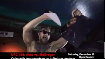 Fios by Verizon Pay-Per-View TV Spot, 'UFC 194: Aldo vs. McGregor' - Thumbnail 2