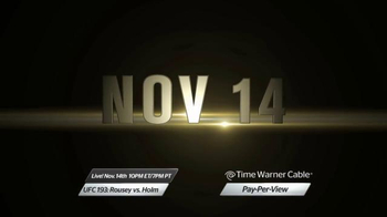 Time Warner Cable Pay-Per-View TV Spot, 'UFC 193: Rousey vs. Holm' - Thumbnail 3