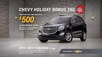 Chevrolet Holiday Bonus Tag TV Spot, 'Holiday Deals: Equinox' - Thumbnail 9