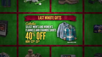 Cabela's Christmas Sale TV Spot, 'Flannels, Slippers and eGift Cards' - Thumbnail 4